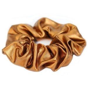 Oh So HIP Metallic scrunchie koper