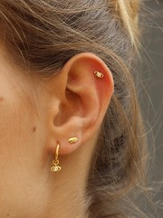 Sale oorbellen gold plated sterling zilver