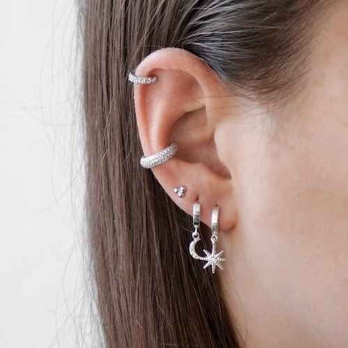 Oh So HIP Ear Cuff  met zirkonia steentjes gold plated