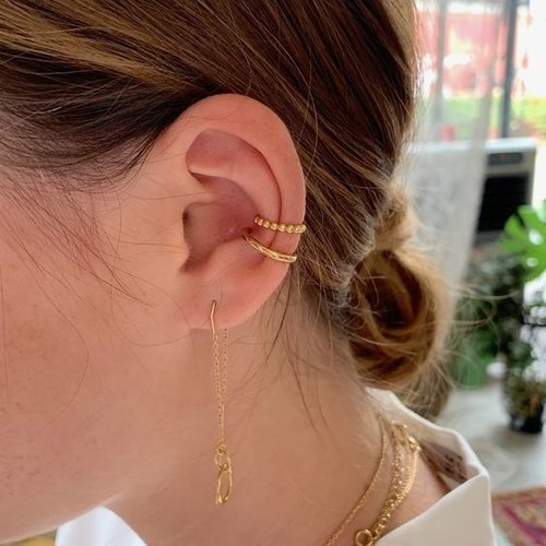 Oh So HIP Ear cuff goud