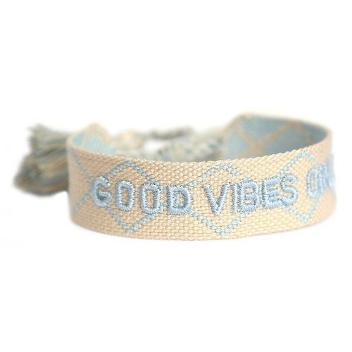Love Ibiza Armbandje Good vibes only crème