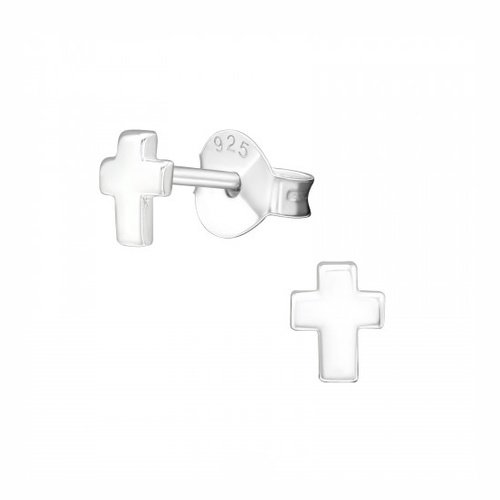 Oh So HIP Cross studs zilver