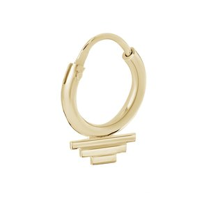 A Brend One piece oorring Franci gold plated
