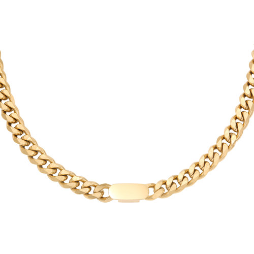 Oh So HIP Chunky ID schakelketting goud