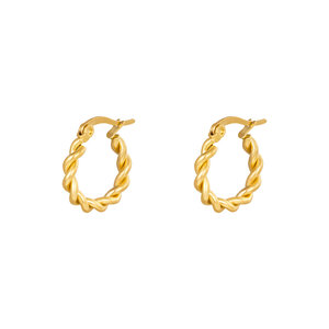 Oh So HIP Oorringen Twisted 15 mm goud