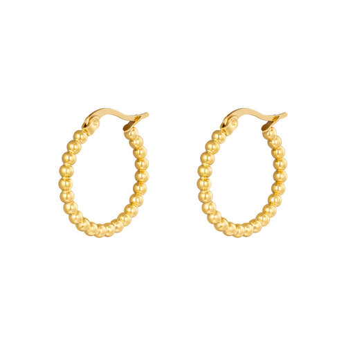 Oh So HIP Oorringen Dots 22 mm goud