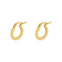 Oorringen Dots 15 mm goud