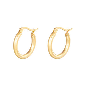 Oh So HIP Oorringen Plain 22 mm goud