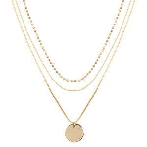 Club Manhattan Layered Coin necklace