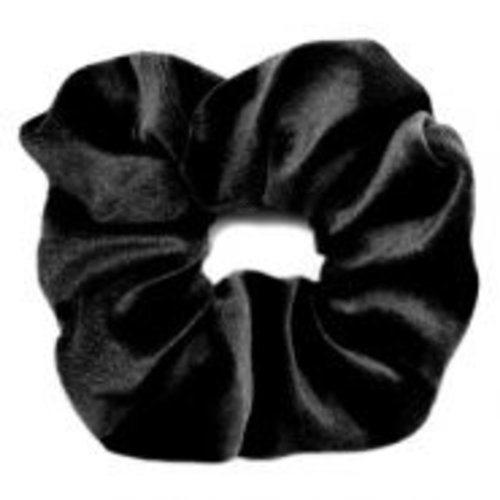 Oh So HIP Velvet  scrunchie zwart