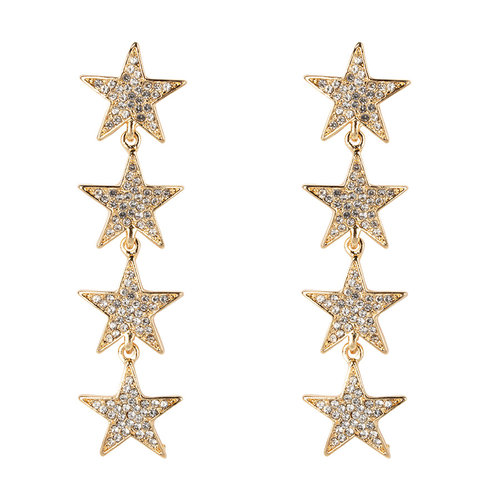 Club Manhattan Strass oorbellen sterren