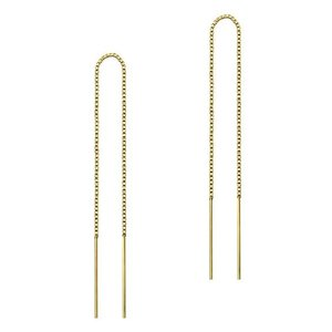 Threader oorbellen gold plated