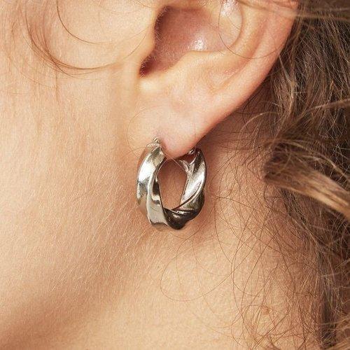 Oh So HIP Stainless steel oorringen zilverkleurig