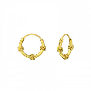 Oh So HIP Bali hoops goud 10 mm