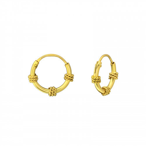 Oh So HIP Bali hoops gold plated 10 mm