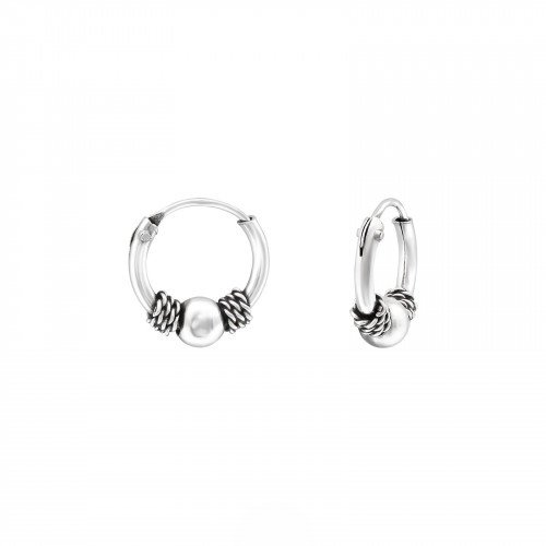 Oh So HIP Bali hoops 10 mm 925 zilver met bolletje