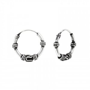 Oh So HIP Bali hoops 12 mm zilver