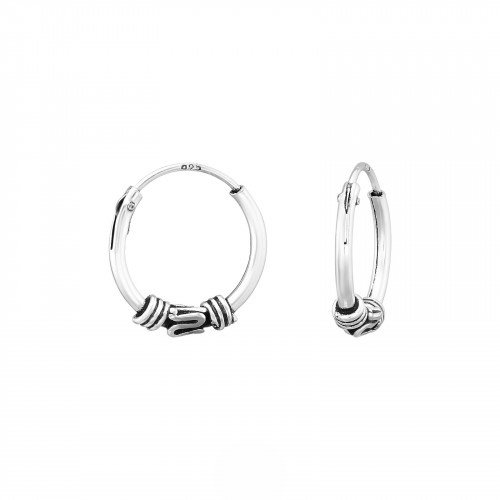 Oh So HIP Bali hoops 12 mm 925 zilver