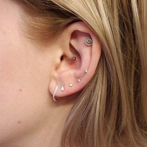 Suspender oorbellen gold plated