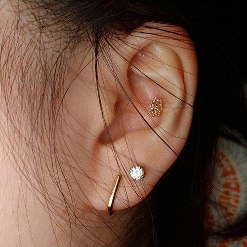 Suspender oorbellen 925 zilver