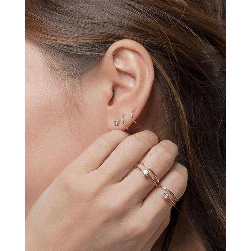 Spiraal hoop oorringen gold plated
