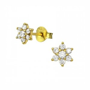 Oh So HIP Oorbellen Flower studs gold plated