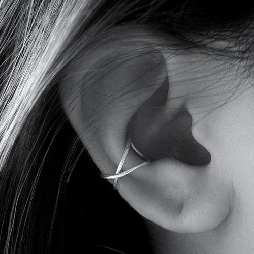 Ear cuff gekruist gold plated