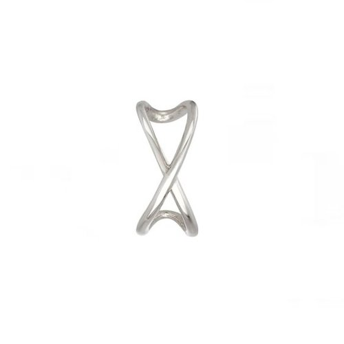 Ear cuff gekruist 925 zilver