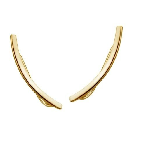 Ear climbers staafje gold plated