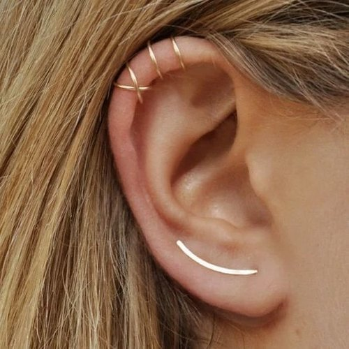 Dubbele ear cuff gold plated