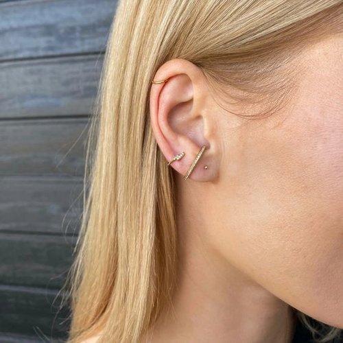 Bliksem oorbellen gold plated