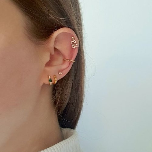 Marquise studs 925 zilver