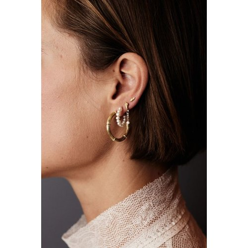 Flawed Eye of the beholder studs gold plated