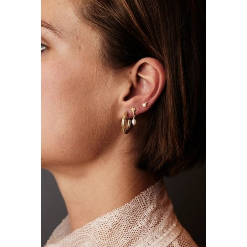 Flawed Pearl Dots studs 925 zilver