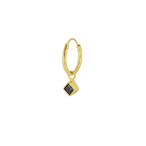 Flawed Square Eye hoop gold plated