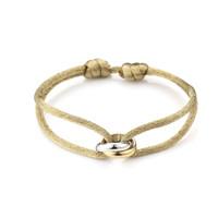 Satijnkoord armband met 2 ringen