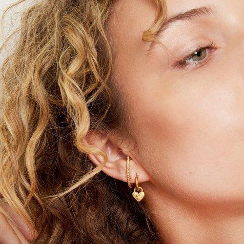 Oh So HIP One piece ear suspender goudkleurig Dots