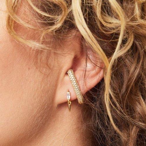 Oh So HIP One piece ear suspender zilverkleurig