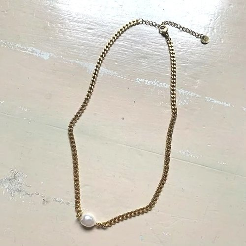 Rocky Rosa Ava necklace ketting met parel