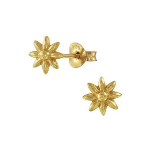 Oorbellen Flower gold plated
