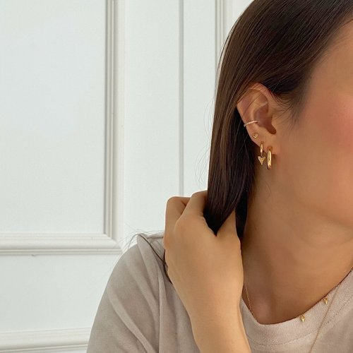 Oh So HIP Chunky hoops gold plated