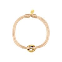 Satijnkoord armband met 3 ringen