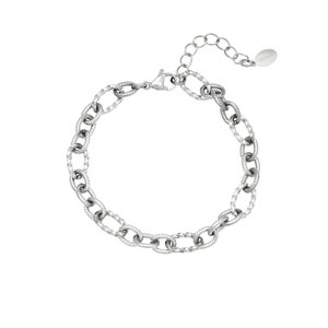 Schakelarmband chains zilverkleurig stainless steel