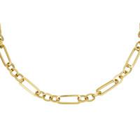 Schakel chain necklace goudkleurig
