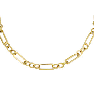 Schakel chain necklace goudkleurig