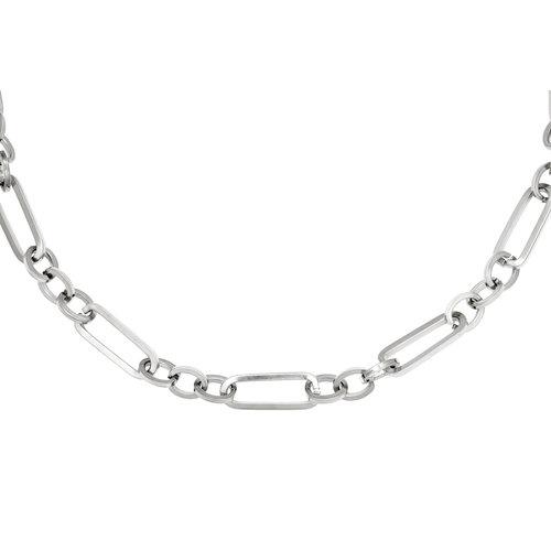 Schakel chain necklace zilverkleurig