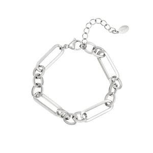 Schakelarmband chains zilverkleurig