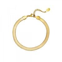 Snake bracelet stainless steel goudkleurig