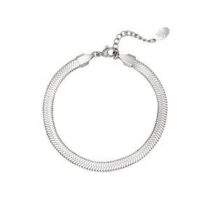 Snake bracelet stainless steel zilverkleurig