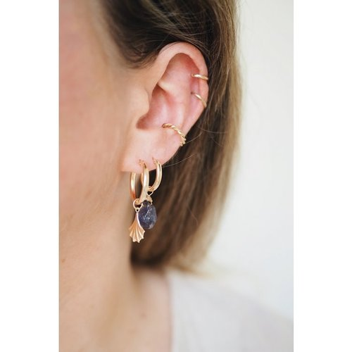 The Two Collectors Charm bedel Leaf gold filled